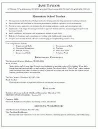 Resume Cover Letter Experienced Teacher Resume Sample For