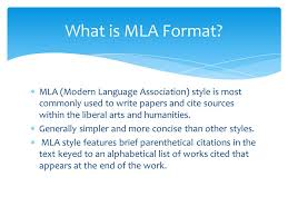 mla formtat mla format works cited ppt video online download