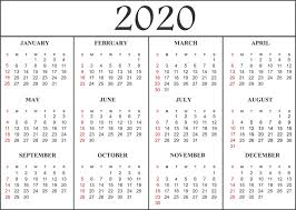 Printable Calendars For 2020 12 Month 2020 Calendar Template Printable Calendar