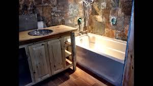 Cabin Bathroom Nicely Done Co Log Cabin Style Bathroom Youtube