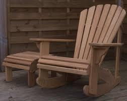 classic adirondack rocking chair in iroko