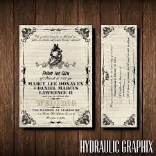 friday the 13th wedding invitation and rsvp ticket gothic Gothic Wedding Invitations Templates like this item? gothic wedding invitations templates