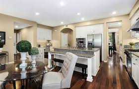 traditional kitchen with island attached breakfast bar dining and bench seat