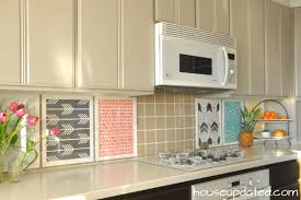 Tile Backsplash Installation Custom DIY Temporary Backsplash House Updated