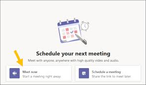 getting started with meetings in teams free