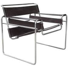 vintage marcel breuer wassily chrome and leather chair for