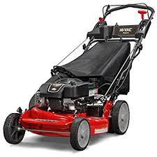 self propelled lawn mower. snapper p2185020e / 7800982 hi vac 190cc 3-n-1 rear wheel drive variable self propelled lawn mower