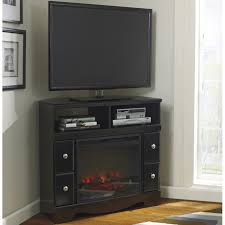 shay corner tv stand with fireplace option