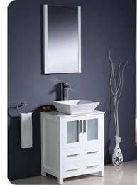fresca torino 24 inch white modern bathroom vanity with vessel sink. fresca torino white modern bathroom vanity w/ 2 side cabinets \u0026 vessel sink 24 inch with e
