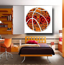 Guy Sports Art Masculine Wall Art Painting Basketball Gift In Masculine  Wall Art (Image 10