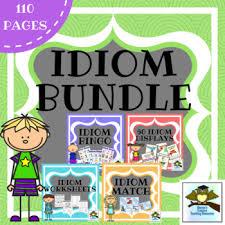 Idioms Bundle Anchor Chart Displays Games Activities