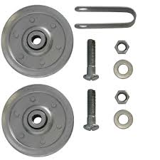 garage door pulleys with fork and bolts 2 pack