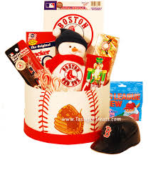 score a homerun with the boston red sox basket gift baskets holiday gifts
