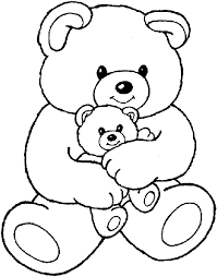 Small Picture Cute Bear Coloring Pages Teddy Bear Coloring Pages Theme Free
