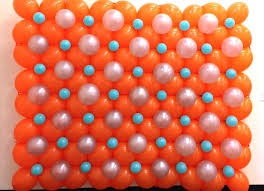 balloon wall and columns a filled link o loon in orange silver blue wallpaper iphone balloon wall