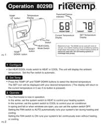 ritetemp thermostats 8029b pdf quick start manual ritetemp 8029b manual