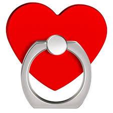 360 Degree <b>Rotating</b> Heart Shape Cell Phone Finger Ring Holder ...