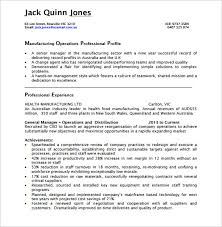 Operations Manager Resume Impressive 28 Sample Operation Manager Resumes Sample Templates
