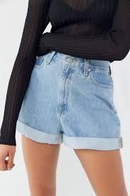 Light Shorts Outfit Bdg Denim High Waisted Mom Short Light Wash Mom Jeans