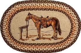 oval jute rug parked horse western hand stenciled oval large oval jute rug