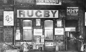 view of rugby s refreshment room doorway and the signage that was liberally distributed on the walls