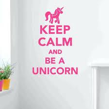 unicorn wall decor keep calm and be a unicorn wall cal sticker vinyl wall art wall