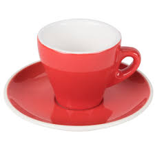 cac er venice  oz red espresso cup with   saucer  case