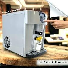 small ice makers machine soft serve cream countertop nugget maker the opal sitting on a