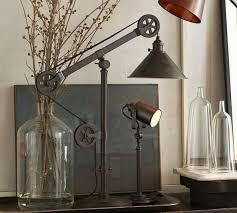 pulley lighting. Warren Pulley Task Table Lamp Lighting