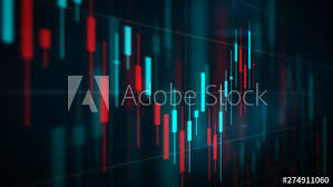 3d Stock Chart Digital Candlestick Stock Chart 3d View Buy This Stock
