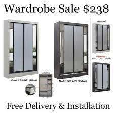 2 door sliding wardrobe offer free