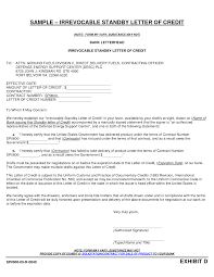 Irrevocable Standby Letter of Credit Sample