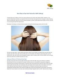 choose organic black henna hair dye