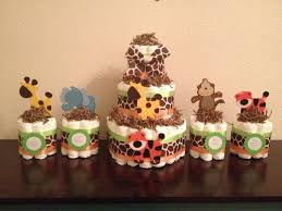 absolutely design mini diaper cake centerpieces 7 jungle theme cakes photo safari baby shower diy