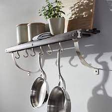 j k adams grey wall mounted pot rack