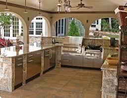 beautiful stone garden kitchen in tampa florida outdoor