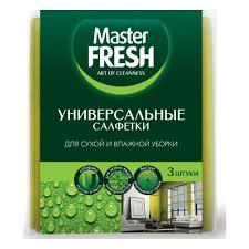 Универсальные <b>салфетки MASTER FRESH для</b> уборки (вискоза ...