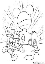 Small Picture Cartoon Printable Mickey Mouse Clubhouse Coloring Pages