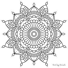 Small Picture Mandala Coloring Pages Adults Pages Iphone Coloring Mandala