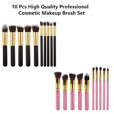 10 pcs high quality professional cosmetic makeup brush set