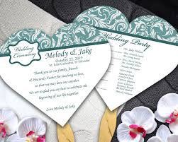 Wedding Program Fans Cheap Heart Shaped Wedding Program Fans Free Personalization