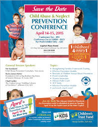 child abuse flyers ctf prevention conference 2015 childrens trust fund of missouri