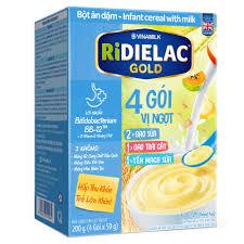 Bột ăn dặm Ridielac Gold 3 vị ngọt cho bé 6 - 24 tháng (200g) - Kids Plaza