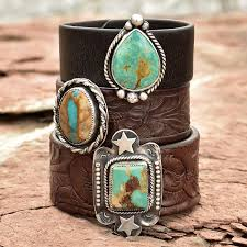repurposed leather sterling silver and turquoise cuff