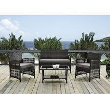 pcs wicker furniture set