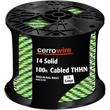 southwire 100 ft 10 2 grey uf b w g cable 13056728 the home depot 100 ft 14 3 black white and green cabled solid thhn cable