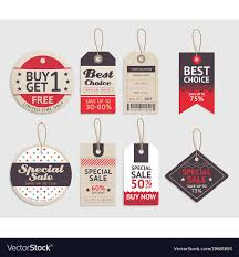 Label Design Free Price Tags Label Design Set Royalty Free Vector Image