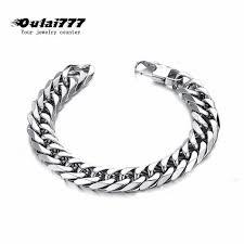 <b>oulai777</b> men bracelet <b>2019 stainless</b> steel link chain on hand mens ...