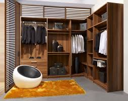 Master Bedroom Walk In Closet Urban Style Brown Wooden Wardrobe Cabinet Mixed On Rectangle Brown