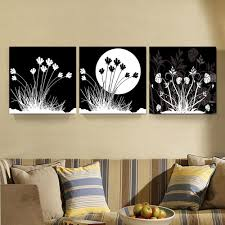 2018 black white moon fleur paintings home decor canvas picture black white wall art prints for office living room from utoart 14 2 dhgate com